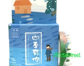 Washi Tape 1.5cmx7m Four Seasons Trees SM382227