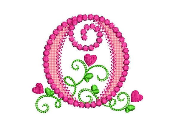 Elaborate Hand Embroidery Monogram initial A by MadameHollyhock