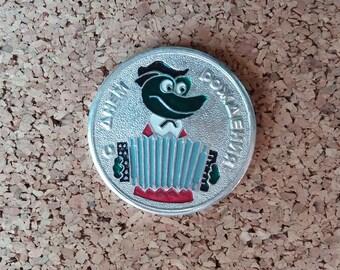 Soviet Retro Badges Vintage pins Gena Pin Old Pins