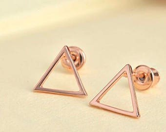 Be the change!   Triangle earrings