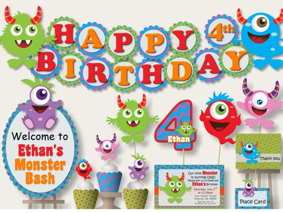 Little Monster 1st Birthday Party Decorations Birthday