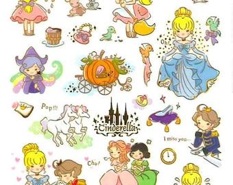 Cinderella Stickers