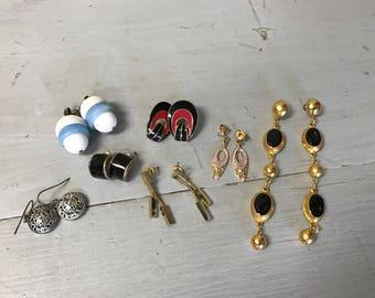 Lot of 7 Pairs of Vintage Earrings