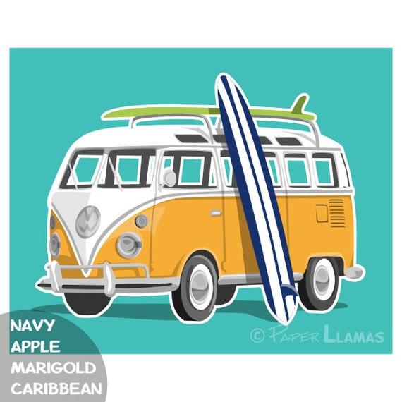 items similar to vw surf bus combi van surf wagon. Black Bedroom Furniture Sets. Home Design Ideas