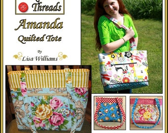 INSTANT DOWNLOAD: Amanda Quilted Tote - diy Tutorial pdf eBook Pattern - 3 Sizes Included
