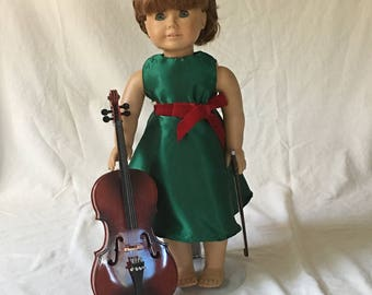 18 inch doll Christmas dress