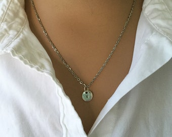 Initial Necklace/ Initial Charm Necklace/ 1 Initial Charm Necklace/ Custom Initial Necklace/ Personalized