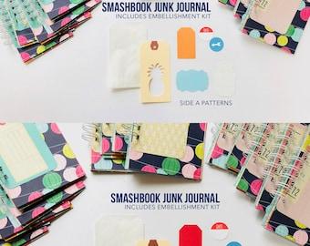 Junk Journal, Smashbook, Junque Journal, Travel Album, Notebook, Mini Book, Scrapbook, Mini Album, Paper Lanterns, Mixed Media Notebook