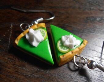 Earrings - tart green Parts and lemon