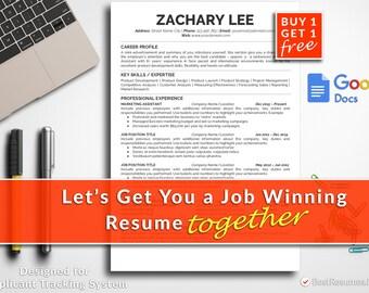 Resume Template Professional Resume Template Instant Download Modern Resume Template CV Template CV Design Free Resume Template Google Docs
