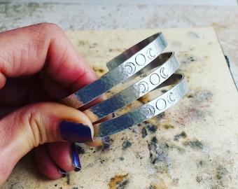 Triple Moon Bracelet / Boho Gypsy Goddess / As Above So Below / Wiccan Jewelry