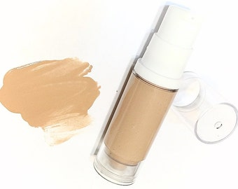 SAHARA Liquid ORGANIC Foundation - Natural Makeup Vegan Gluten Free - Serum Liquid Minerals
