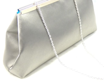 Silver And Blue Jewel Bridal Clutch, Something Blue, Wedding Clutch, Bridesmaid Gift, Mother of the Bride Gift, Bridesmaid Clutch