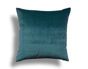 Teal Throw Pillow Cover - Velvet Throw Pillow - Teal Velvet Pillow Cover - Designer Throw Pillow Cover -Velvet Pillow - Teal Pillow Cover