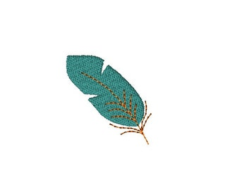 Mini Feather Machine Embroidery Design-INSTANT DOWNLOAD