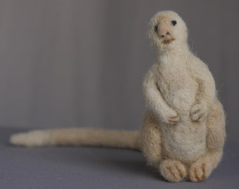 An Animal Imagined by KAFKA - needle felted / alpaca wool / felt animal / felted animal / creature / imaginary being / book / literary art