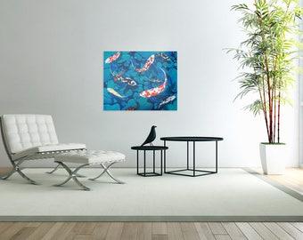 Koi fish painting giclee print