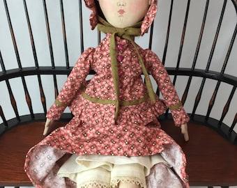 Old Fashioned Lady Doll. Cloth Doll. Art doll.