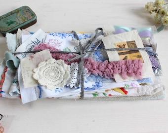 Fabric and trim scrap bundle I fabulous sewing pack
