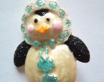 Vintage Signed Danecraft Baby Penguin Brooch/Pin