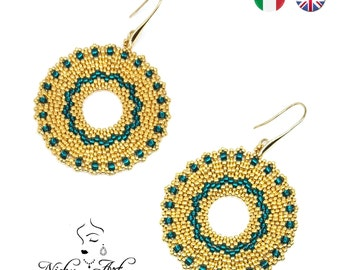 Cleopatra earrings- beading pattern
