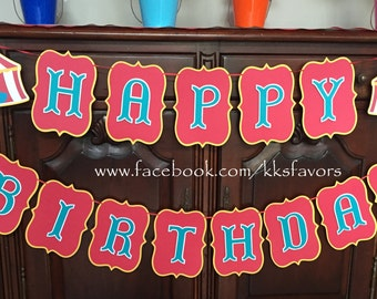 Carnival Party Banner / Circus Party Banner / Circus Birthday Banner / Carnival Birthday Banner / Carnival Banner / Circus Banner