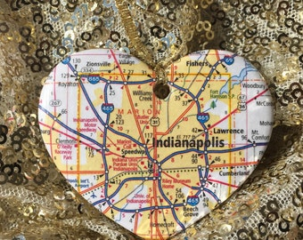 Indianapolis Map Ornament