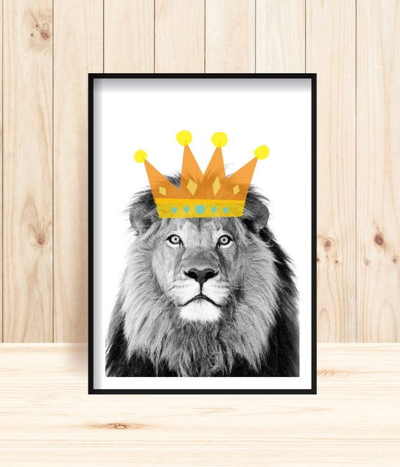 Lion Prints Safari Nursery Prints Lion King Wildlife