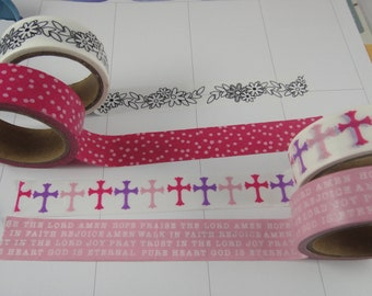 Washi Tape Sample - Christian Washi - Faith Based Washi - Cross Washi