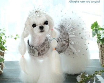 Luxury Gir  Harness Dress -set with leash / Free Shipping