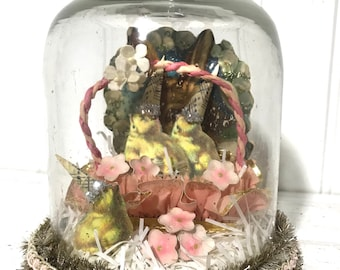 Easter Under Glass Art