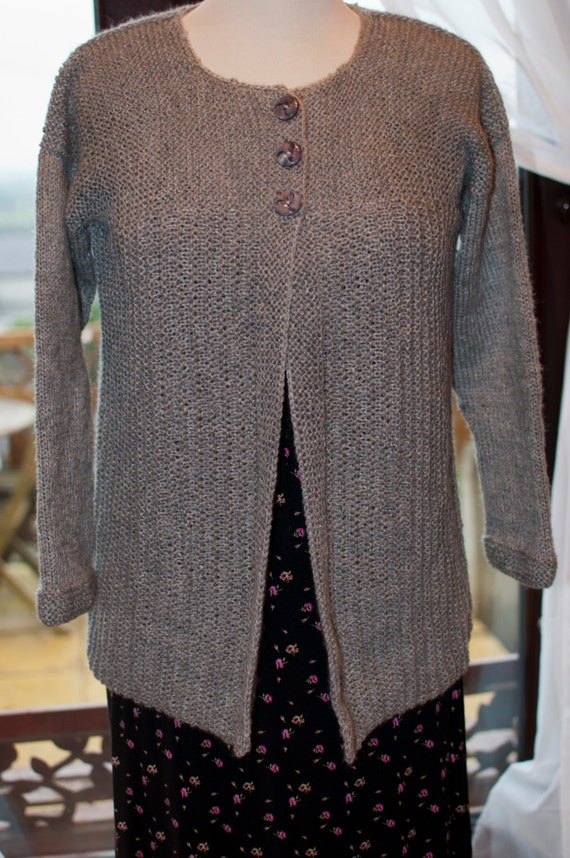 Handknitted Cardigan in Grey