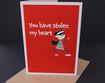 Heart Thief - A6 Card