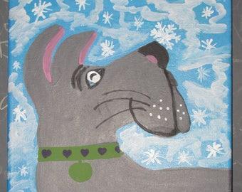 Snowy Great Dane