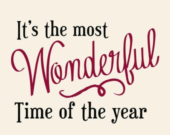 Printable Christmas Poster - Wonderful Time of the Year - 10x10