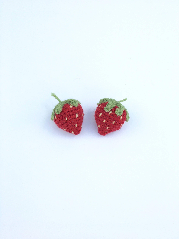 2 Stück häkeln vorgeben Erdbeeren Häkeln gefälschte