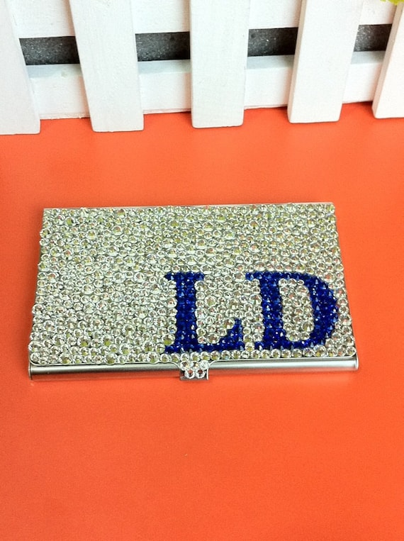 Personalized gifts rhinestone business card holder swarovski colourmoves Image collections