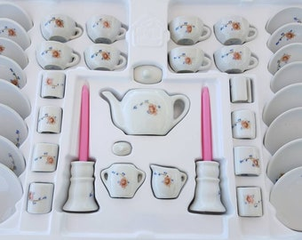 Childrens Complete Miniature Tea Set in Box