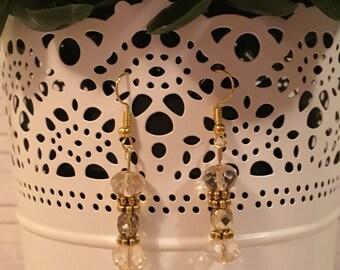 Gold Bead Dangle Earrings / Impress for Less / Less than 10 / Minimalist