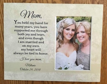 mother-of-the-bride-gift, Mother-in-Law-Gift, Mother of the Bride Gift, Mothers Day Frame Personalized-Picture-Frames Wedding-Gift-for-Mom