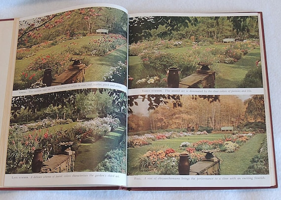 Vintage 1944 Hardcover Book GARDENS IN COLOR By Richard Pratt ..17 Color Illustrations