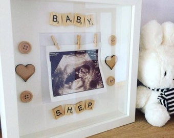 baby scan frame / baby boy / baby girl / neutral baby / baby scan photo frame / new baby gift / baby scan / baby gift