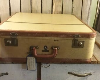 Vintage Winship Luggage, Tweed Dress Carrier, Vintage Suitcase,