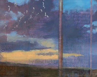 Feel Winged ~ Original Contemporary Abstract Landscape Painting