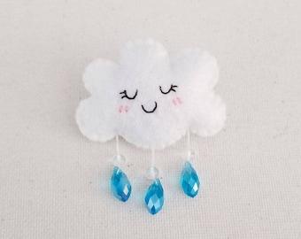 Shower Cloud Brooch