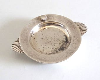 French Antique Silver Plated Porridge Bowl