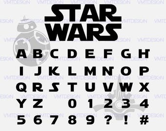 star war font svg star war silhouette font star war font digital clipart for