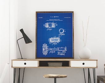 Gravel patent print art - Vintage printable patent poster artwork drawing - Instant Digital download - Wall art decor - Blueprint