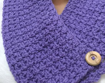 Hand Knitted Scarf, Shawl, Shoulder Wrap, Cowl Neck Warmer Handmade