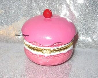 Ceramic Pokemon Pink Berry Fancy PokePuff Trinket Box Custom made - Decorative Home Decor Gift Girls Room